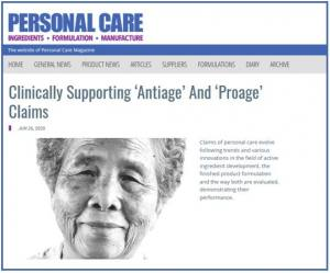 logo Clinically Supporting 'Antiage' And 'Proage' Claims via Personal Care