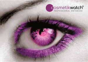 Cosmetikwatch® is The competitive intelligence solution